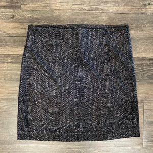 Stretchy Metallic Skirt by BCBGENERATION
